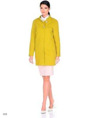 Пальто FORTUNA. Цвет: оливковый