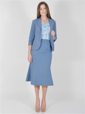 Пиджак VISERDI. Цвет: серо-голубой