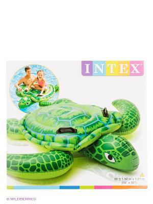 Надувная каталка Морская черепаха Intex. Цвет: зеленый