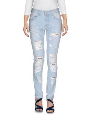 Джинсовые брюки MNML COUTURE. Цвет: синий