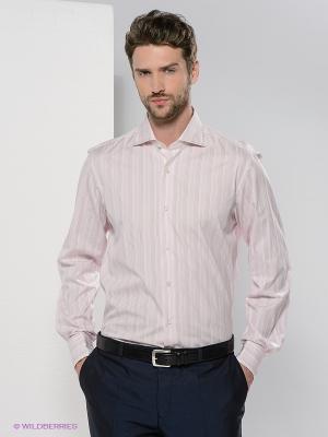 Рубашка Colletto Bianco. Цвет: розовый, белый, бордовый