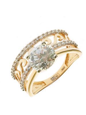 Кольцо Vangold. Цвет: золотистый