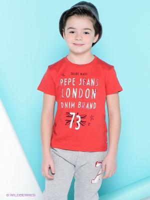 Футболка PEPE JEANS LONDON. Цвет: красный