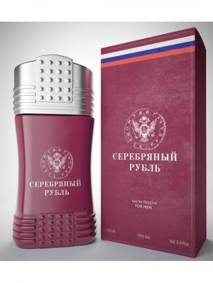 Монеты М Серебрянный рубль туалетная вода 100 мл ТД Покровка. Цвет: бордовый
