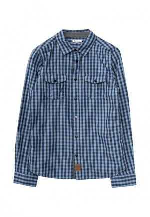 Рубашка 3 Pommes. Цвет: синий