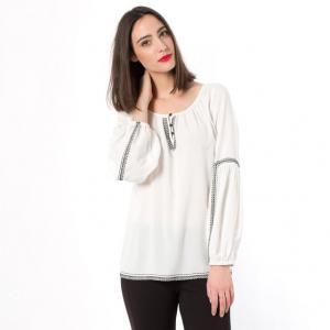 Блузка с длинными рукавами TWIST&TANGO. Цвет: белый/ черный