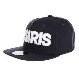 Бейсболка с прямым козырьком  Snap Back Hat Nyc Nvy Osiris. Цвет: синий