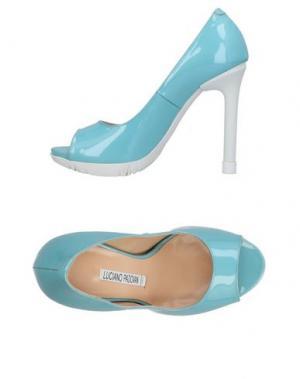 Туфли LUCIANO PADOVAN. Цвет: небесно-голубой