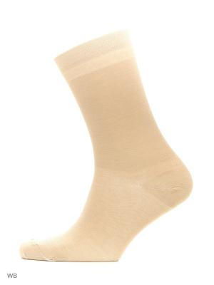 Носки из мерсеризированного хлопка (2 пары) HOSIERY. Цвет: бежевый