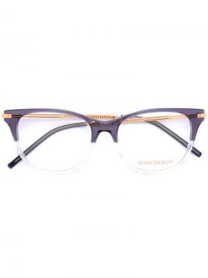 Очки с квадратной оправой Boucheron. Цвет: серый