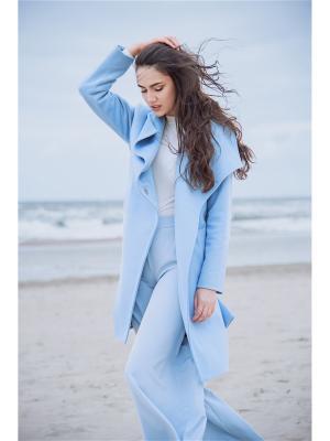 Пальто Elema. Цвет: голубой