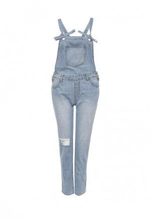Комбинезон джинсовый Glamorous. Цвет: голубой