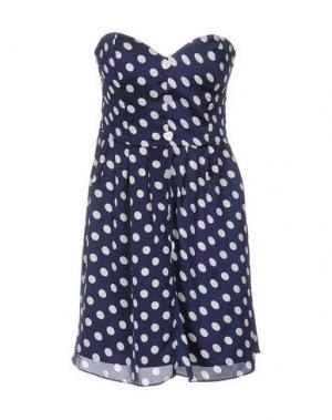 Короткое платье RARE LONDON. Цвет: темно-синий
