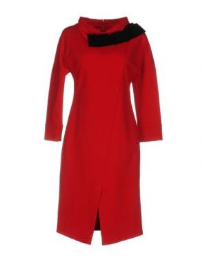 Платье до колена ANNA RACHELE. Цвет: красный