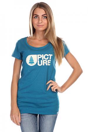Футболка женская  Basement Plush Blue Petrol Picture Organic. Цвет: синий
