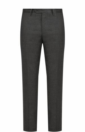 Шерстяные брюки прямого кроя Germano. Цвет: темно-серый