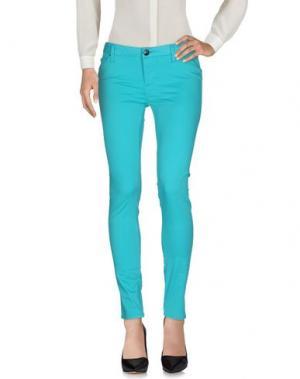 Повседневные брюки LEROCK. Цвет: бирюзовый