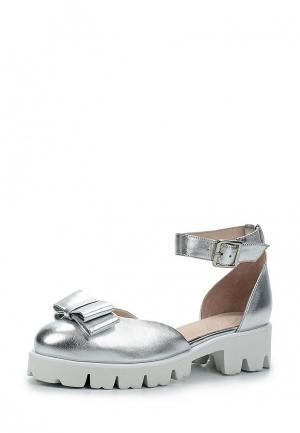 Туфли Portal. Цвет: серебряный