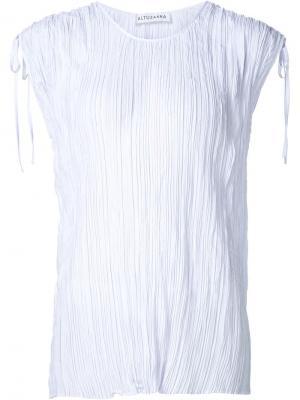 Плиссированная блузка Altuzarra. Цвет: белый