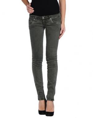 Джинсовые брюки BAD SPIRIT. Цвет: темно-зеленый