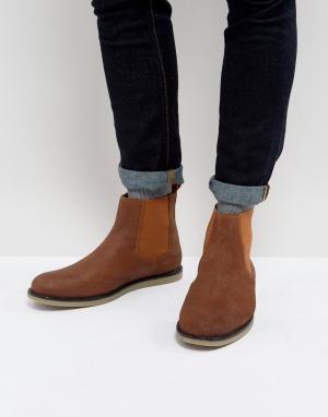 Original Penguin Черные ботинки челси London. Цвет: рыжий