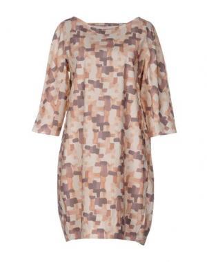 Короткое платье GUGLIELMINOTTI. Цвет: бежевый
