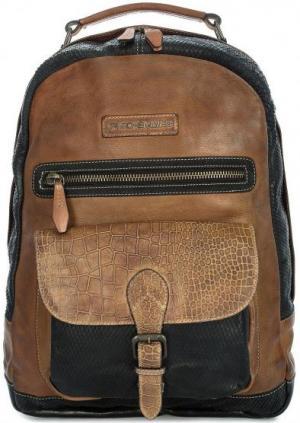 Кожаный рюкзак с отделением для ноутбука Taschendieb. Цвет: коричневый