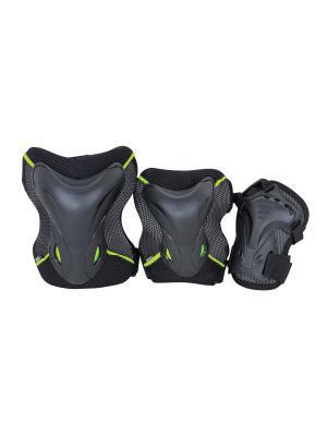 Комплект 3-х элементов защиты TEMPISH JOLLY 3-set (knee+elbow+wrists) Зелёный. Цвет: зеленый