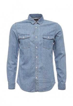 Рубашка джинсовая Only & Sons. Цвет: голубой