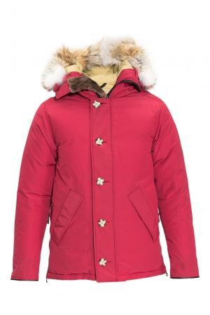 Пуховик с мехом койота 152307 Arctic Bay. Цвет: красный