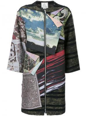 Лоскутное платье Maison Mihara Yasuhiro. Цвет: многоцветный