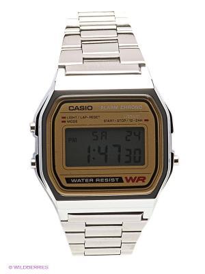 Часы Casio A-158WEA-9E. Цвет: серебристый, коричневый