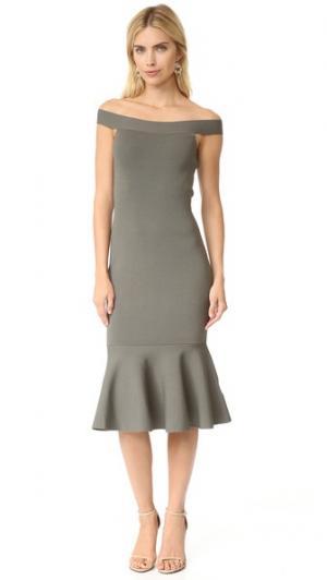 Трикотажное платье If Only Keepsake. Цвет: хаки