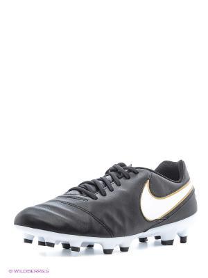 Бутсы TIEMPO GENIO II LEATHER FG Nike. Цвет: черный