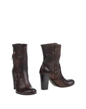 Полусапоги и высокие ботинки SCOOP!. Цвет: темно-коричневый