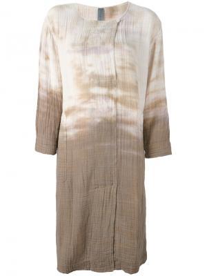 Платье свободного кроя Raquel Allegra. Цвет: телесный