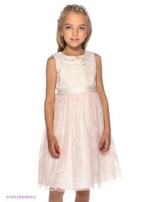 Платье Vitacci. Цвет: розовый, белый
