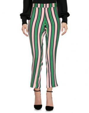 Повседневные брюки WEILI ZHENG. Цвет: зеленый