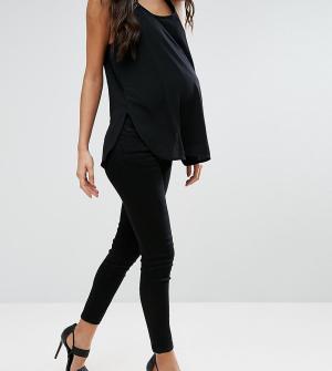 ASOS Maternity Зауженные черные джинсы для беременных с поясом под животом Mater. Цвет: черный