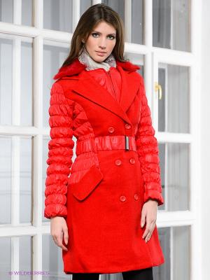 Пальто Rene Derhy. Цвет: красный