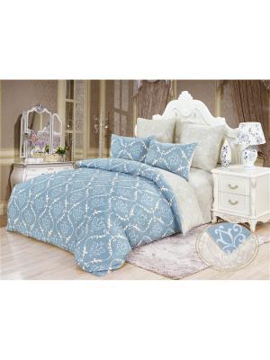 Комплекты постельного белья, Фриули, Евро KAZANOV.A.. Цвет: голубой,серый