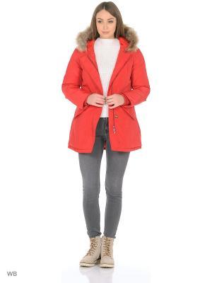 Куртка RISSKIO. Цвет: красный