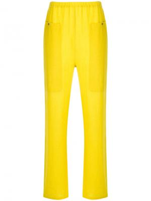 Брюки Adell Humanoid. Цвет: жёлтый и оранжевый