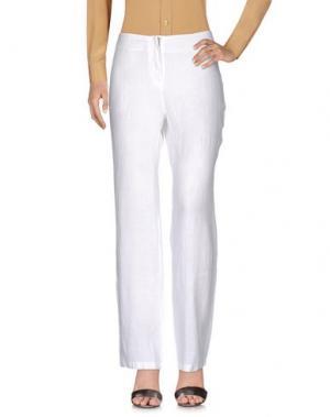 Повседневные брюки LA FABBRICA DEL LINO. Цвет: белый