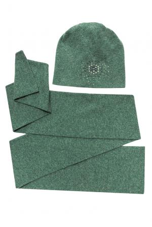 Комплект из шерсти в кристаллах Swarovski (шапка и шарф) 154748 Anna Jollini