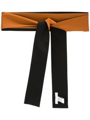 Двухцветный шарф Dvf Diane Von Furstenberg. Цвет: коричневый