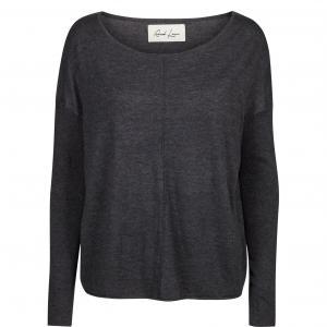 Пуловер из тонкого трикотажа Nicet AND LESS. Цвет: антрацит