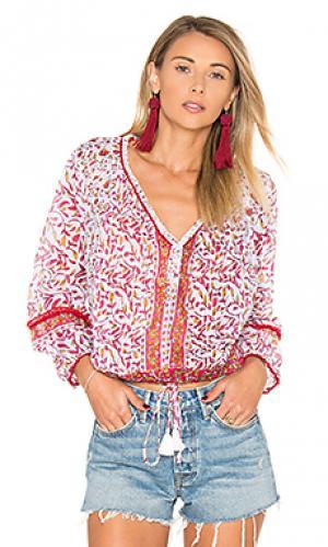 Блузка bibi Poupette St Barth. Цвет: розовый