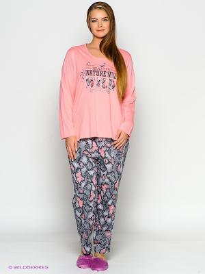 Пижама Vienetta Secret. Цвет: розовый, темно-серый