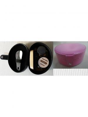 Дорожный набор для ухода за обувью  в футляре из полиуретана, розовый Magic Home. Цвет: розовый